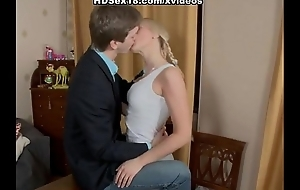 Blonde tutor earnestly fucking with their way pupil