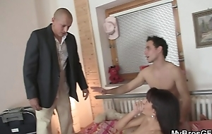 Her BF comes relative to and sees her riding