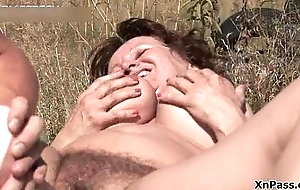 Hairy mature floozy gets her pussy fucked