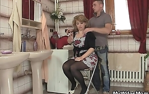 That babe rides my cock and get hitched comes in
