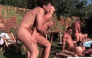Funny mega sex crazy orgy in outdoor