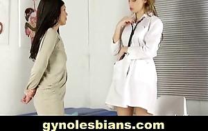 Nude lesbian gyno examination