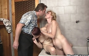 Naughty time with son'_s GF