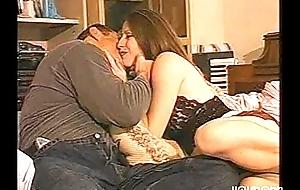 Hawt husband copulates stud while ugly wife watches
