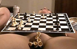 chess match on naked setting up