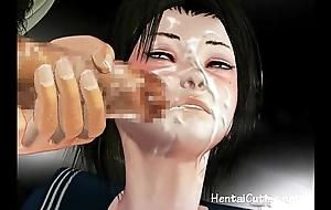 Anime schoolgirl gets her pussy fucked indestructible