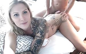 Fucking Her White-headed TS Anus