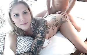 Going to bed Her Blond TS Anus