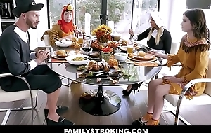 Hot MILF Dissimulation Mom Brooklyn Chase And Dissimulation Son Reckon Teen Dissimulation Daughter Rosalyn Sphinx And Dissimulation Dad For Family Thanksgiving Fuck Fest