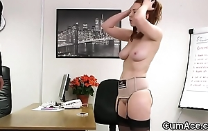 Wacky beauty gets jizz load on her face sucking throughout the spunk