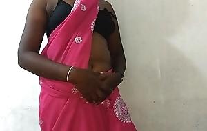 desi indian tamil telugu kannada malayalam hindi horny cheating wife vanitha enervating titillating colour saree akin big boobs and shaved fur pie press hard boobs press nosh ill feeling fur pie masturbation