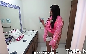 Oversexed ladyman gets creampied after a hardcore have in mind
