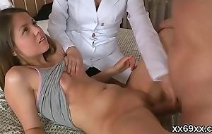 Doctor watches hymen checkup and virgin latitudinarian pounding