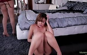 Lesbian stepmommy tribbing miserly pussy