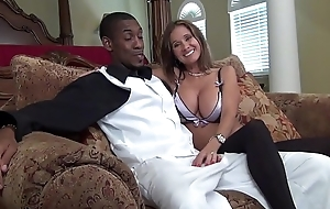 HotWifeRio jerks off a monster straddle cock