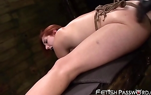 Redhead play a waiting game Delicate situation Red-hot gaped all over anal oubliette before facial