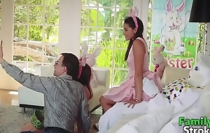 On the up Legal age teenager Birth'_s Pascua Bunny Fucking: Full HD FamilyStroke.net