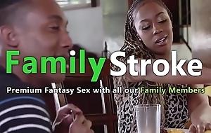 Groupal Swarthy Family Dinner: Spry HD FamilyStroke.net
