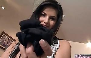 Busty teen (Sunny Leone) rubs her wet crack solo - Twistys