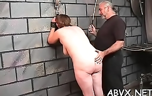 Young babe endures freezing treatment on their way snatch and tits