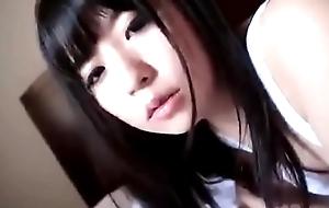 Cute japanese girl engulfing a big dildo - https://asiansister.com/