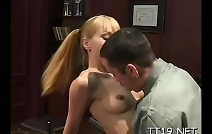 Sexy big pain in the neck schoolgirl gets her trimmed slit fucked roughly
