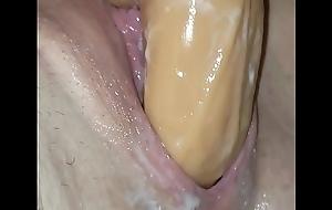 Creamy pussy taking huge marital-device