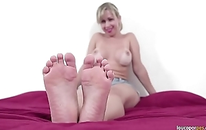 Mirella chubby exasperation showing hawt body, hooves and soles! Amazing subservient charm video!