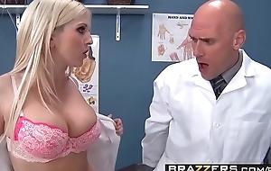 Team a few slutty nurses (Christie Stevens, Jacky Joy) service doctors cock - BRAZZERS