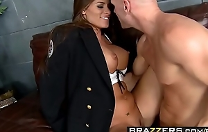 Slutty policewoman (Madelyn Marie) investigates some big cock - BRAZZERS