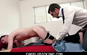 Twink Brat Stepson Drilled By Stepdad To the fore Meeting With Bus