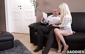 Stunning Hungarian Babe Fucks Her Boyfriend'_s Experienced Old man
