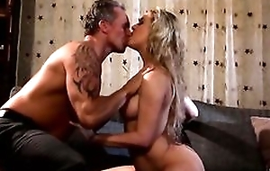 Cherie Deville widens her legs wide for a big succulent cock