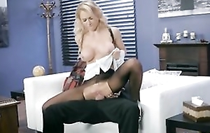 Whorish Freulein is getting fucked through a catch hole in her pantyhose