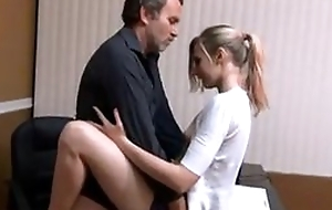 Small tits babe quickie fuck with padre