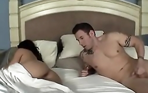 Mom and son sharing bed and cum in her indiscretion after smoking