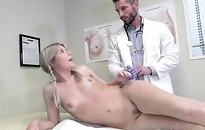 Young blonde girl seduces dilute to hardcore sex and blowjob
