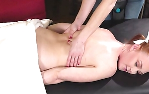 Cute redhead girl gets seduced and fucked overwrought her kinky masseuse