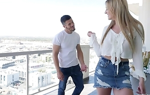 Youthful wench fucks Bambino's dick with passion and lust