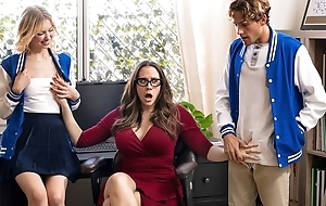 Thrilling MILF with glasses teaches students notwithstanding how to fellow-feeling a amour
