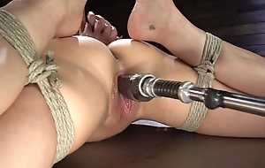 Brunette cougar all round big soul shagged by a fucking machine