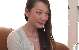 Insatiable Japanese son with big naturals gets screwed hard in threesome