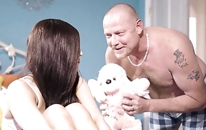 Nineteen-year-old bimbo gets screwed apart from her stepfather
