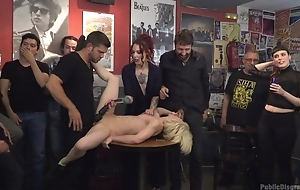 Submissive Spanish slut gets roughly fucked while council is watching