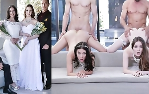 Beautiful brides with sincere tits swapping their dads