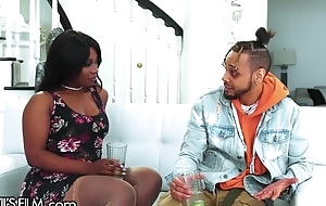 Sappy ebony cheats on fiance with her ex-boyfriend