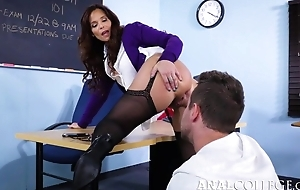 Horrific instructor tempted Van come into possession of fucking her asshole