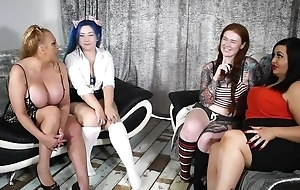 Four thick lesbians having it away in stance be expeditious for be passed on camera