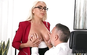 Glamorous blonde damsel gets screwed close by someone's skin office