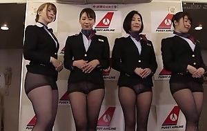 Group of Asian stewardesses procurement screwed good and proper